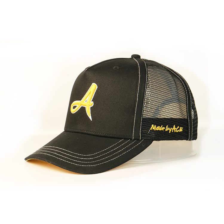 ACE outdoor trucker caps embroidery free sample for Trucker-1