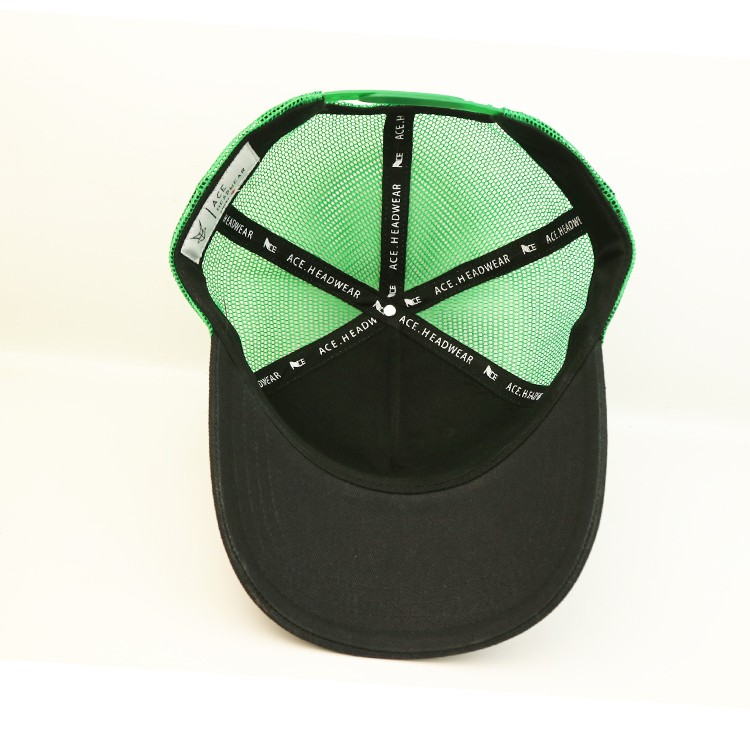 solid mesh cycling cap panel bulk production for Trucker-2