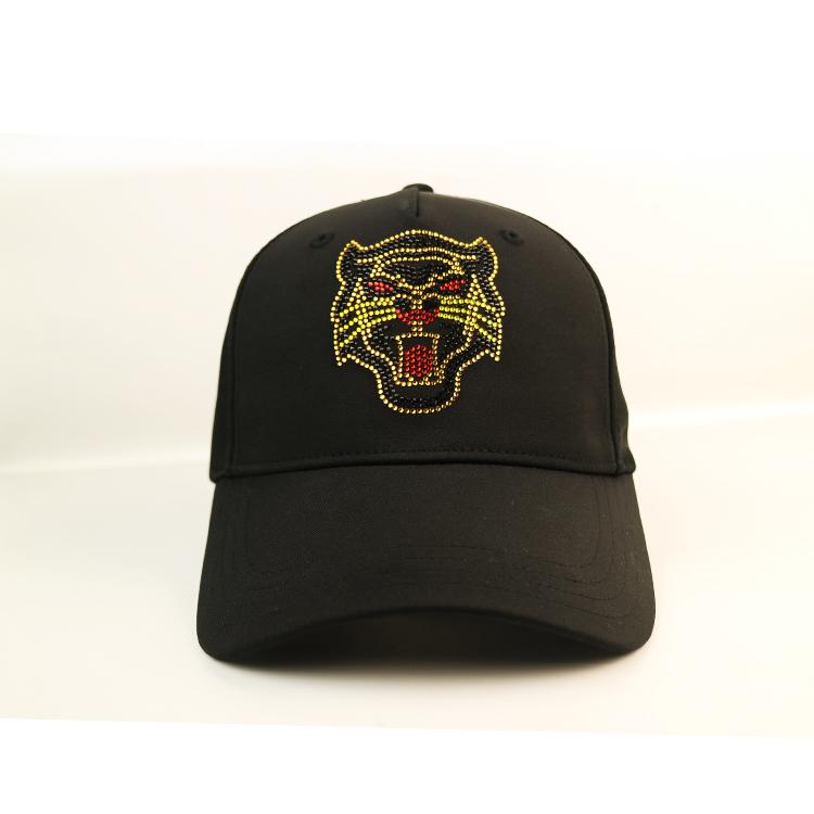 ACE embroidery black baseball cap bulk production for fashion-1