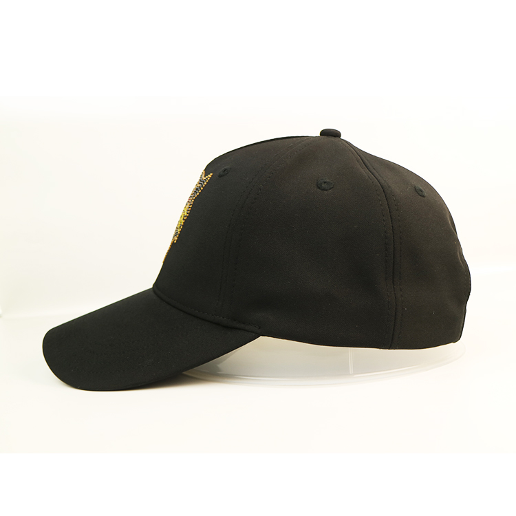 ACE embroidery black baseball cap bulk production for fashion-2