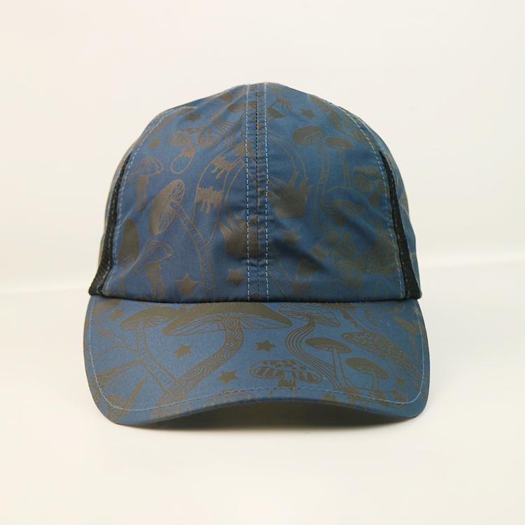solid mesh custom baseball caps black for wholesale for beauty-1