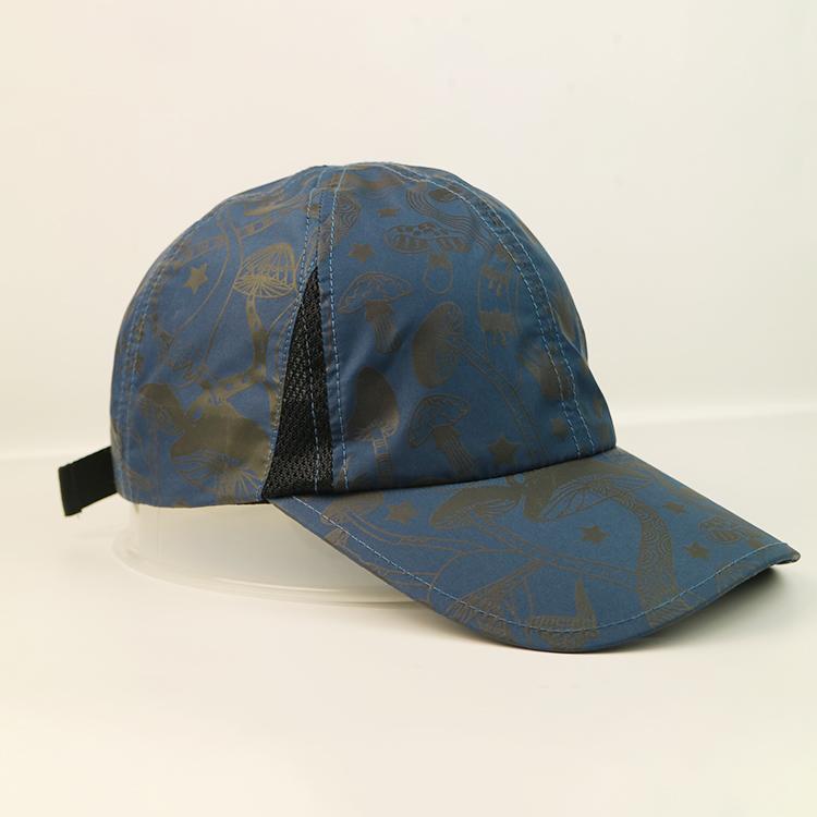 solid mesh custom baseball caps black for wholesale for beauty-3