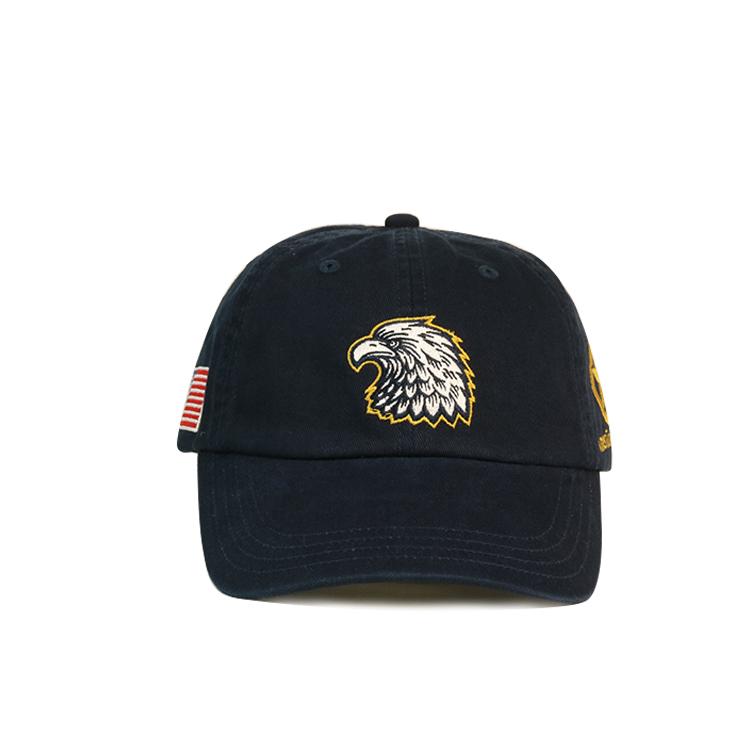 durable black baseball cap panel free sample for baseball fans-1