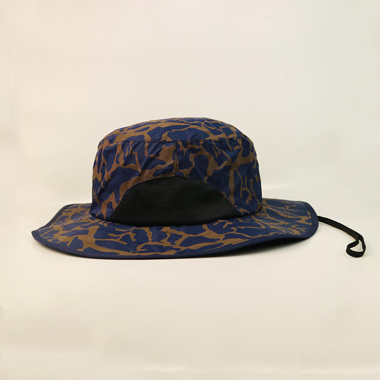 Breathable blue bucket hat feature OEM for beauty-1