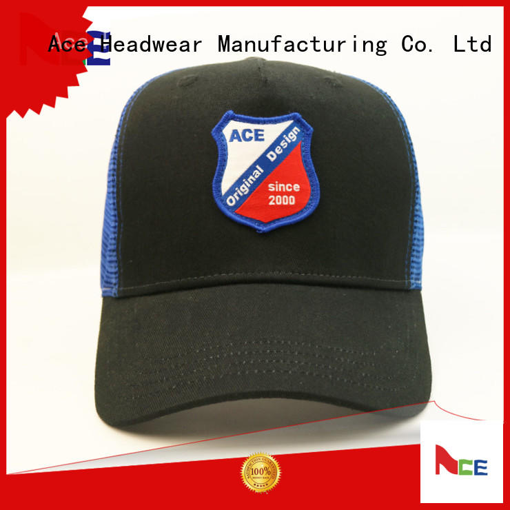 ACE quality trucker caps embroidery ODM for beauty