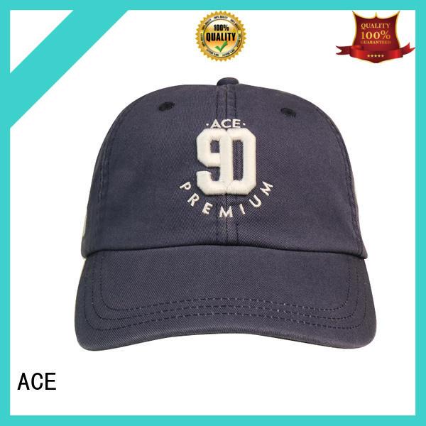 ACE high-quality plain baseball caps bulk production for baseball fans