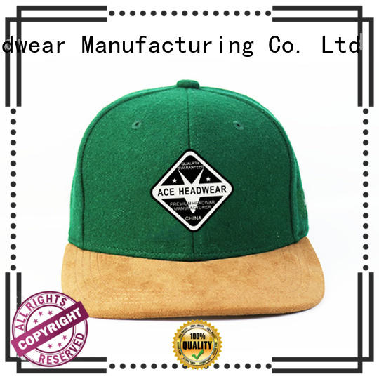 ACE knitting cool snapback hats bulk production for fashion