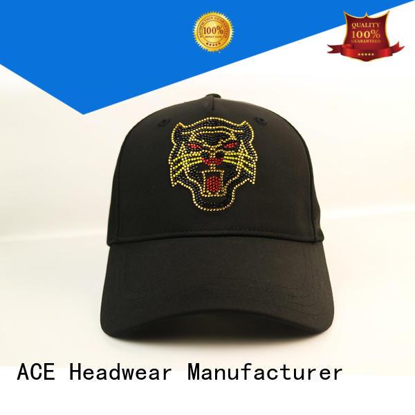 ACE 3d leather baseball cap ODM for baseball fans