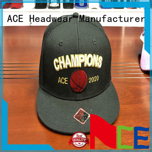 ACE brown blank snapback hats bulk production for fashion