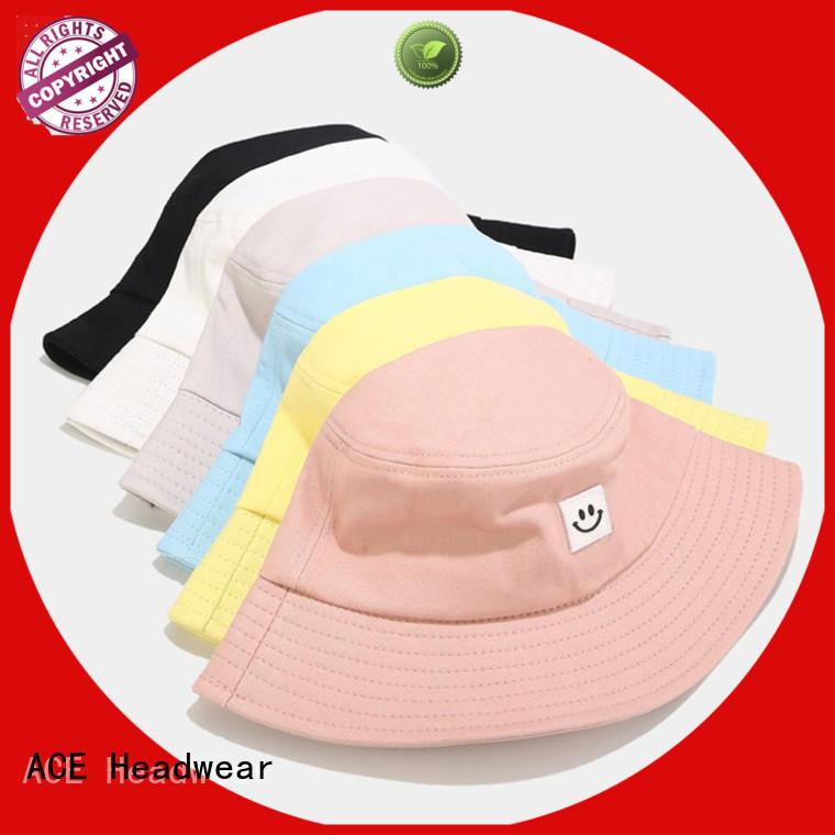 ACE on black bucket hat OEM for beauty