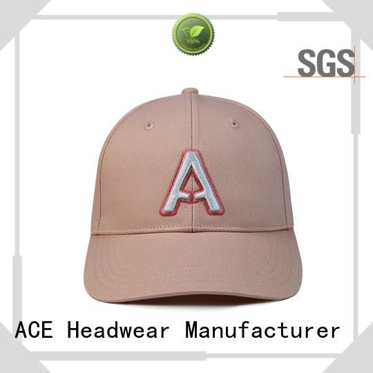 ACE gold leather baseball cap ODM for beauty
