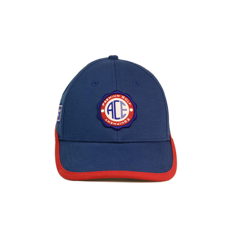 Wholesale custom blank  navy blue dry fit baseball cap with patch embroidery logo
