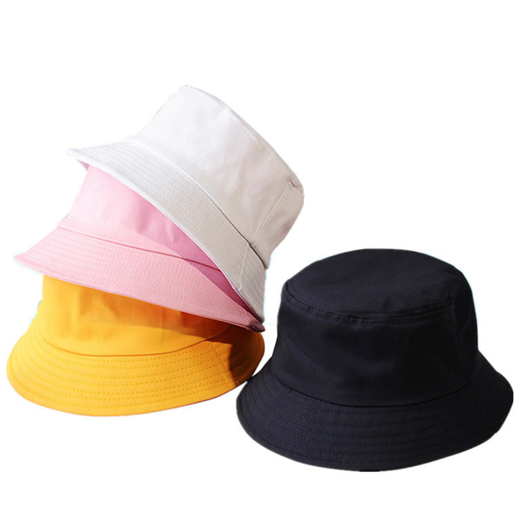 ACE cotton white bucket hat custom logo lady bucket hat blank bucket hat fisherman sun cap
