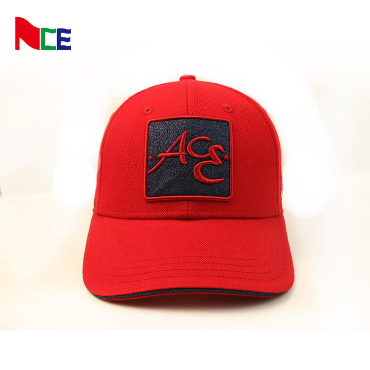 ACE 3d custom embroidered baseball cap hats cheap  red structured baseball  caps for women girls,casquette homme caps