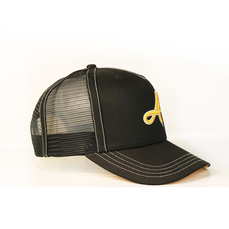BSCI factory delivery within 15 days custom trucker cap hat,customized black 3D embroidery mesh hat