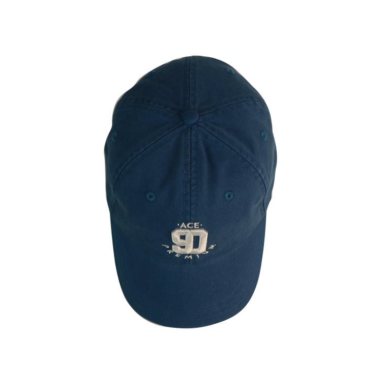 ACE blue washed dad hat plain embroidered baseball cap hats custom fashion embroidery logo cheap dad hat