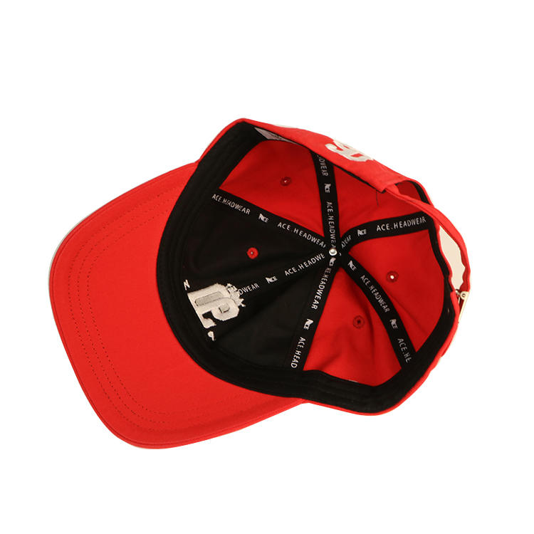 ACE custom sublimation wool baseball cap dad hat with logo 3d embroidery red dad hat embroidered dad hat washed