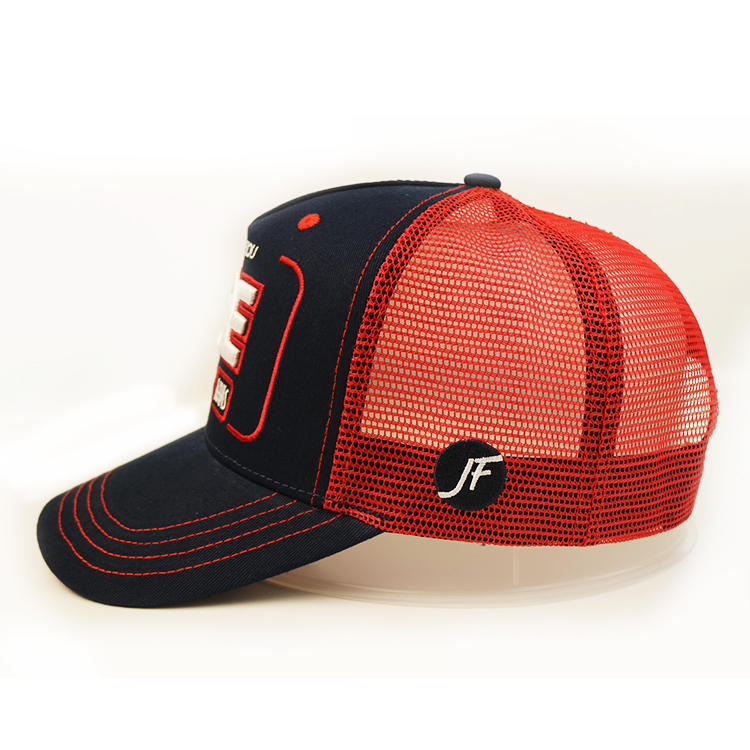 Customize Snapback Hats,Mesh Trucker Cap,3d Embroidered Baseball Cap