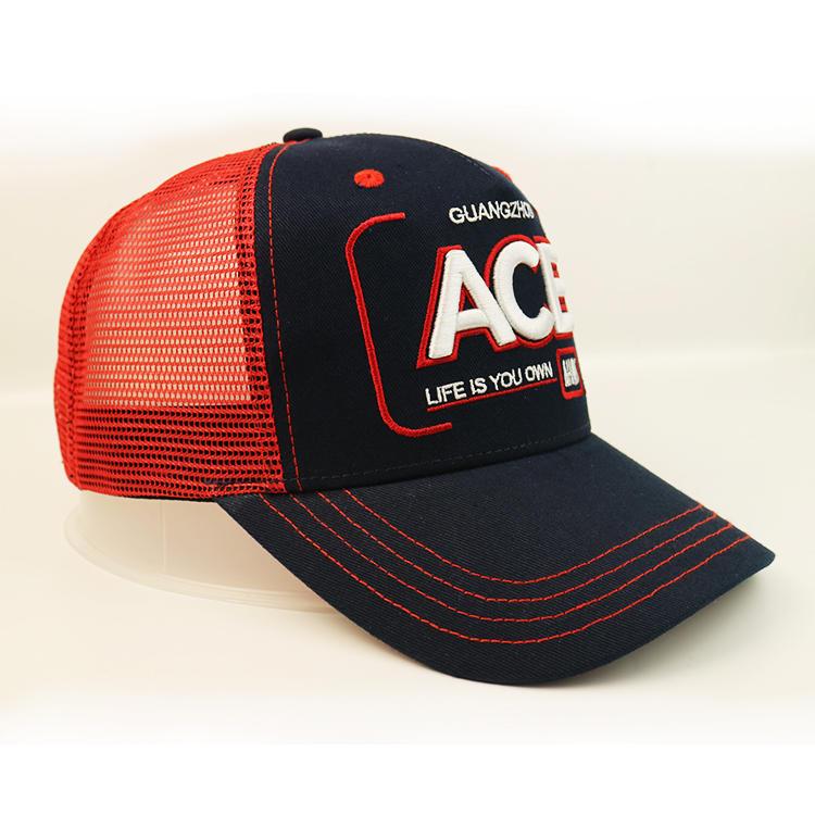 Anniversary Cap Red Mesh Baseball Caps Wholesale Custom Logo 3D Letter Embroidery Blank Trucker Cap Mesh Hat
