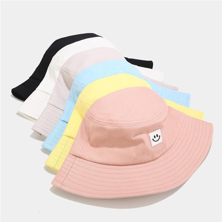 Hot Sale Bucket Hat Unisex Adult Women Men Smile Print Muts Fisherman Hat Casquette Sunscreen Outdoors Cap Sombrero