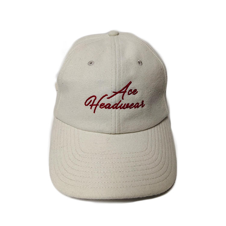 ACE New style white 6 panel flat embroidery sports baseball caps hats