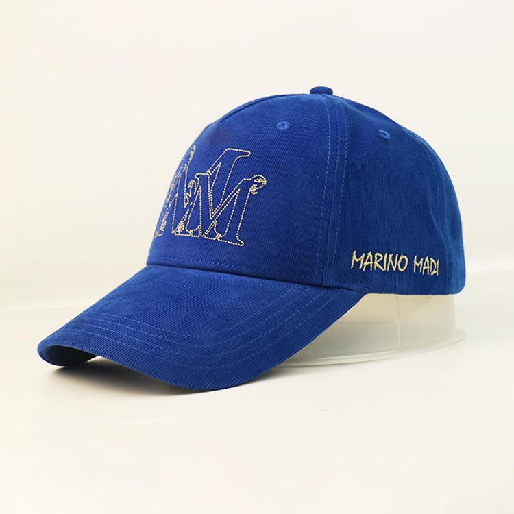 Corduroy 100% Cotton Baseball Cap Corduroy Baseball Cap With Metal buckle Custom Logo