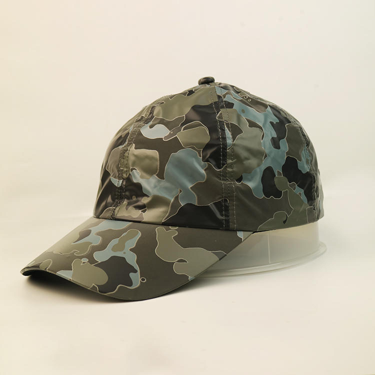 Camouflage Classic Style Baseball Cap All Cotton Made Adjustable Fits Men Women Low Profile Black Hat Unconstructed Dad