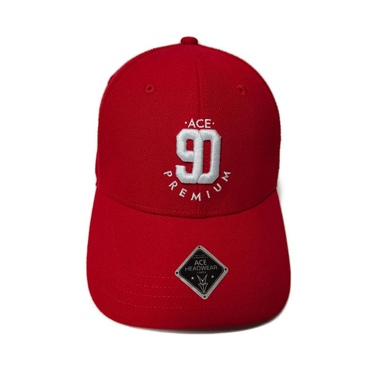 ACE black sports baseball cap free sample for fashion