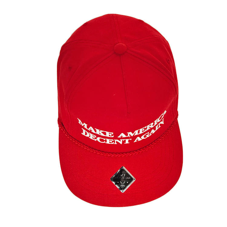 ACE high-quality white snapback cap for wholesale for beauty