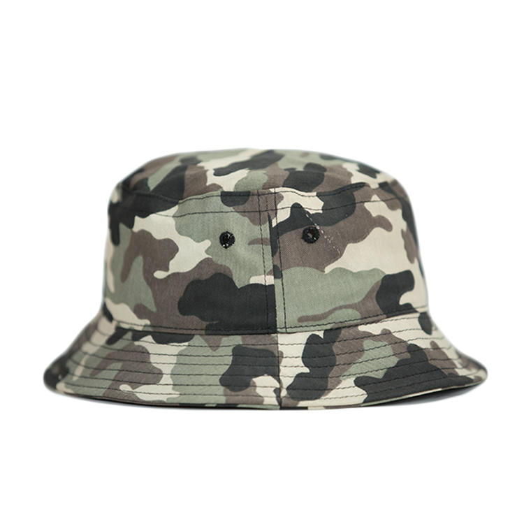 Wholesale Embroidery Logo Bucket Hat Summer Camo Cap Custom Cheap fishman Hat