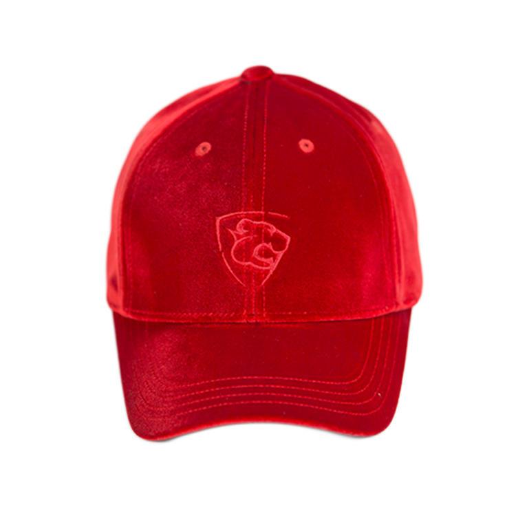 Custom polyester spandex hats and caps crushed velvet baseball hats baggy caps for women