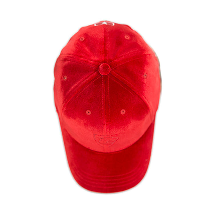 Custom polyester spandex hats and caps crushed velvet baseball hats baggy caps for women