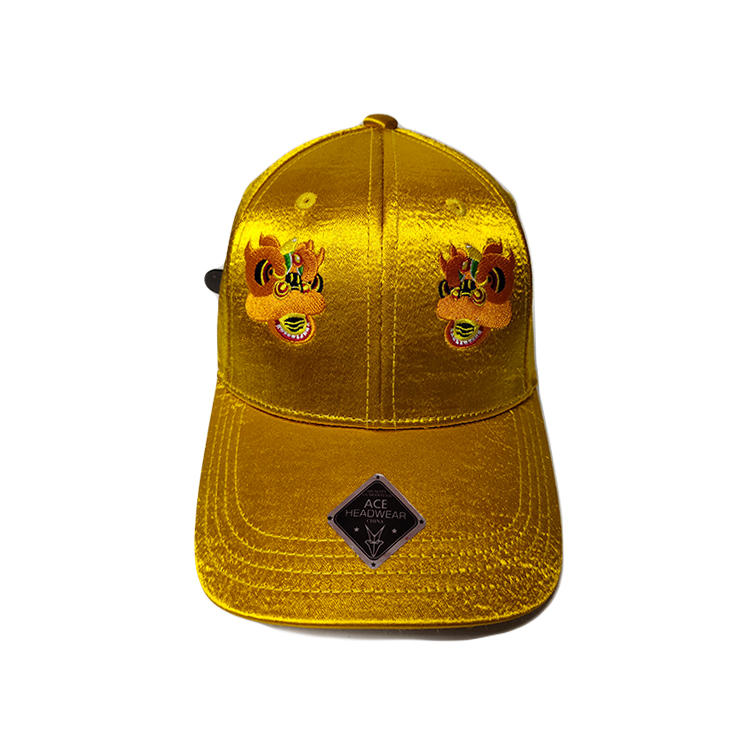High Quality Custom Mythical Creatures Unisex Satin Umbrella Fabric Chinese Festival Style Design Cap Hat