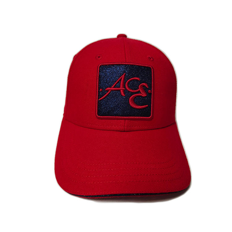 Hot Sales ACE Custom OEM ODM 6 Panels Unisex Glitter Cloth 3D Embroidery Perfect Gift Adjustable Baseball Hat Cap