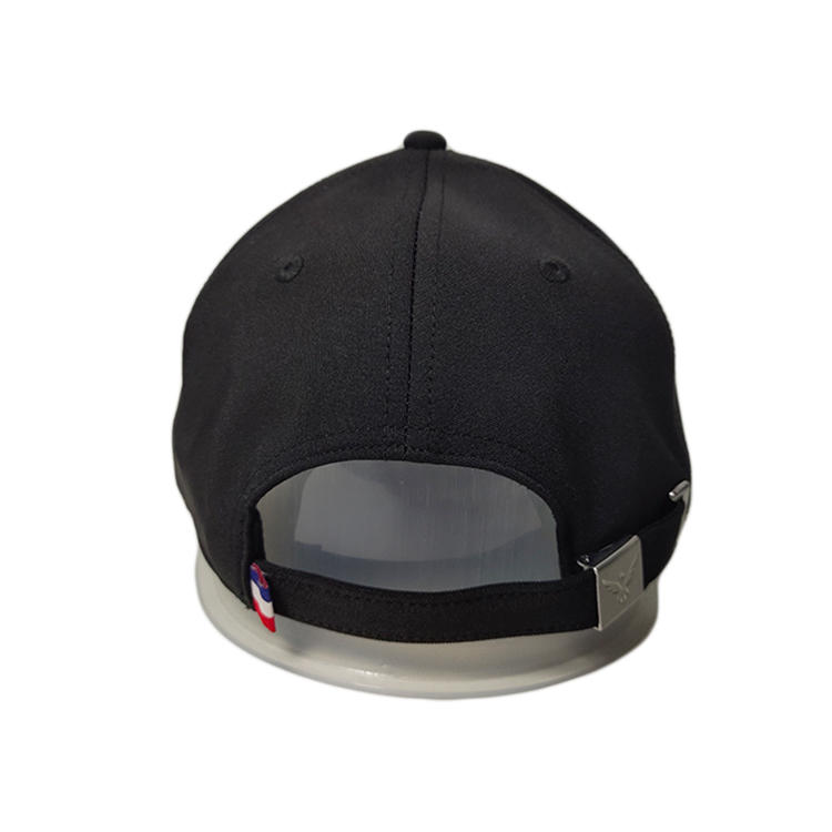 High Quality ACE Custom Patch Logo Embroidery Black Adjustable Cool Outdoors Cotton Polyester Febric Cap Hat