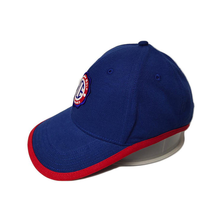 High Quality ACE OEM ODM Custom Unisex Cool Red Blue Stagger Cotton Baseball Sports Cap Hat/Velcro Back Closure Cap