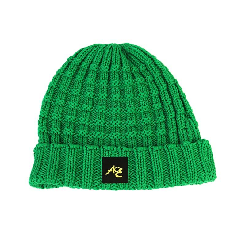 ACE latest black knit beanie free sample for fashion