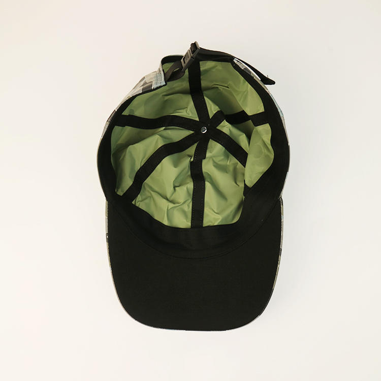 Special Folding Reflective Fabric Customized 5panel Unstructured Dry-fit Special Print Golf Logo Sports Caps Hats