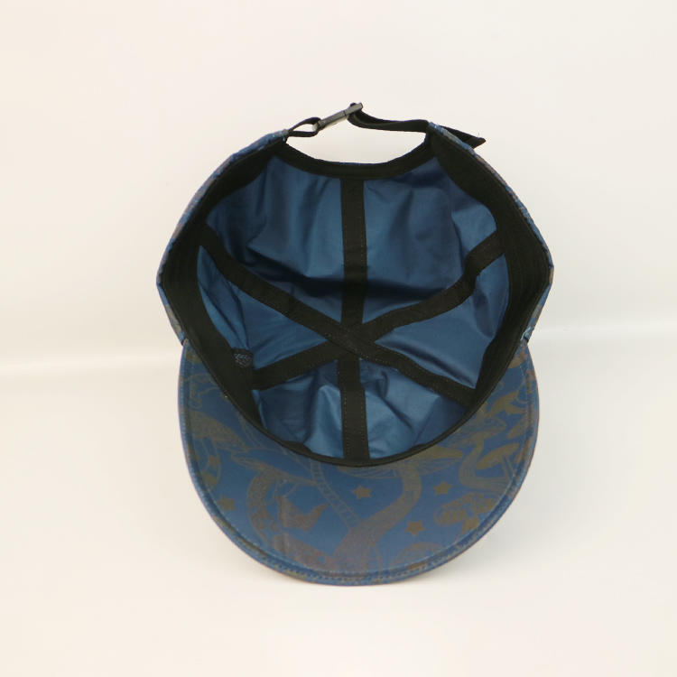 Unstructured Nylon Webbibng Plastic Buckle Customize Dry-fit Printing Sports Caps Hats