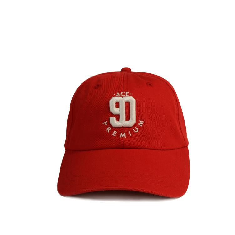 Ace Low Moq Custom Cotton Twill 6 Panel Unstructured Sports Hat Baseball Cap And Hats With 3d Embroidery Logo