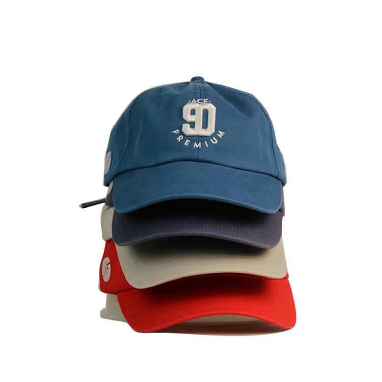Unstructured Curved Brim Printing Logo Custom 6 Panel Embroidery Sports Baseball Dad Cap