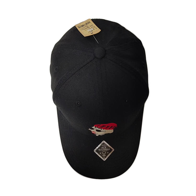 Guangzhou caps manufacturer OEM/ODM ACE brand Wholesale High Quality Custom 6 Panel embroidery Baseball Cap hat