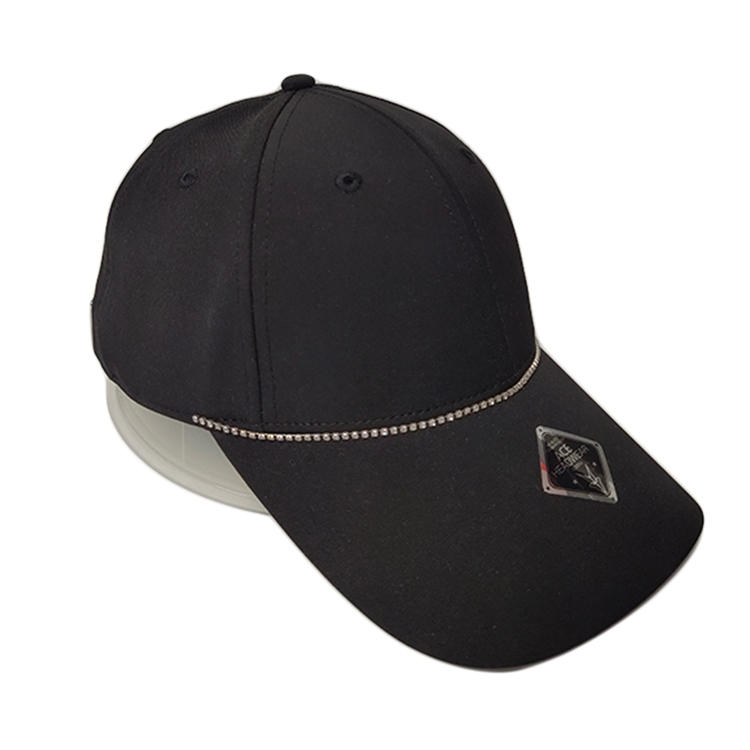 Factory Price Blank Hip Hop Baseball Cap constructed Dad Hat Sports Cap And Hat with Iron Chain