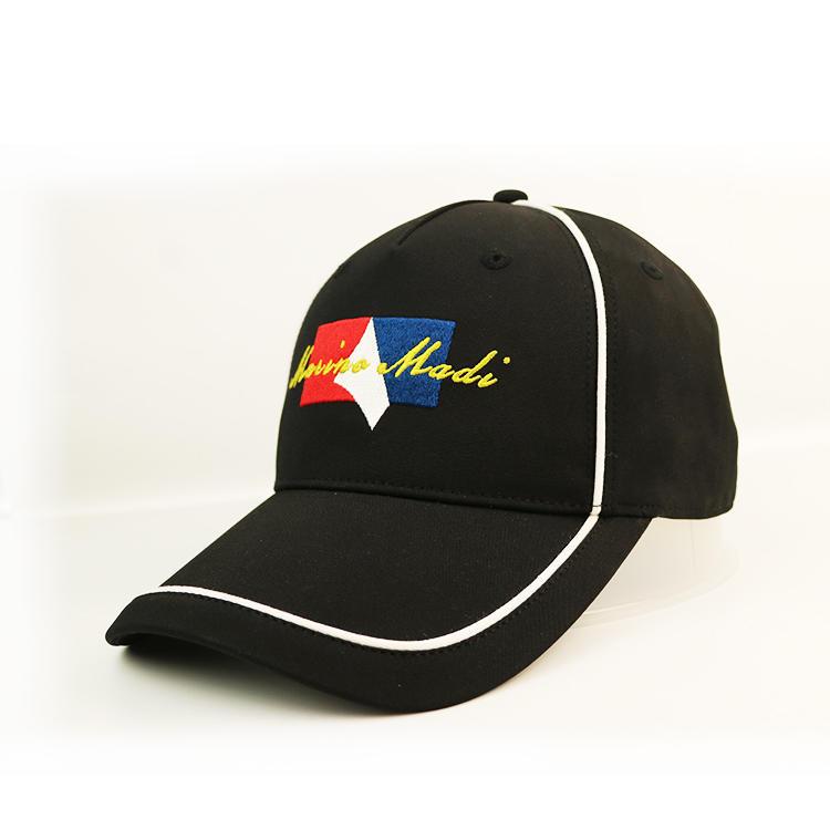 Design Your Own 6 Panel baseball cap Hat Custom flat Embroidery Black Cotton Baseball Cap for Women
