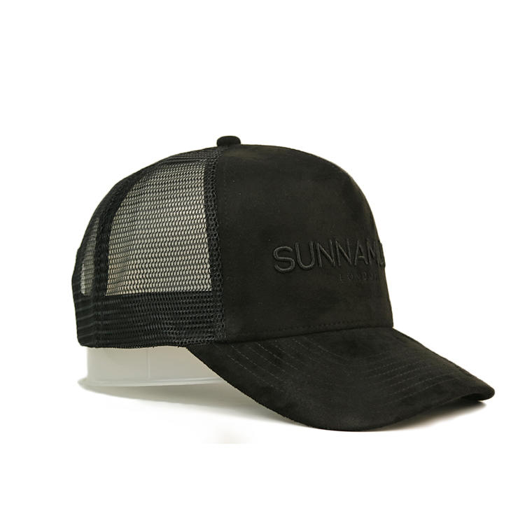 Guangzhou OEM/ODM Custom 3D embroidery suede trucker cap with your own logo