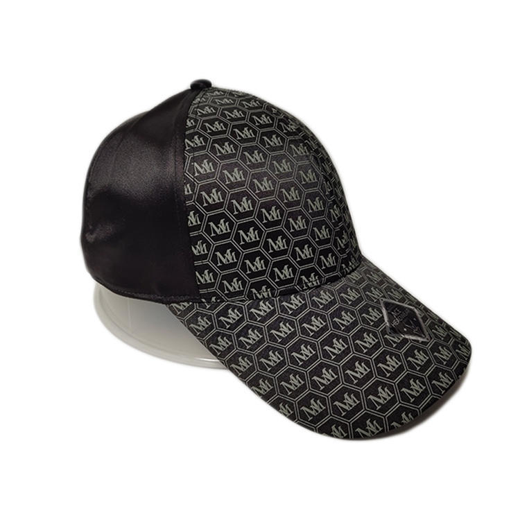 Ace High Quality Leather Digital Print Pattern Custom Logo Soft Polyester Fabric Cool Outdoor Baseball Cap Curve Brim Hat