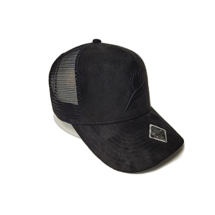 Ace High Quality Custom 3d Embroidery Logo Soft Cotton Fabric Outdoor Baseball Trucker Cap Flat Brim Mesh Hat