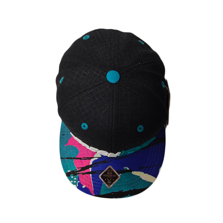 Ace Hot Sales Custom Sublimination Print Bill Custom Peak Visor Logo Soft Cotton Fabric 3d/flat Embroidery Outdoor Snapback Cap Flat Brim Hat