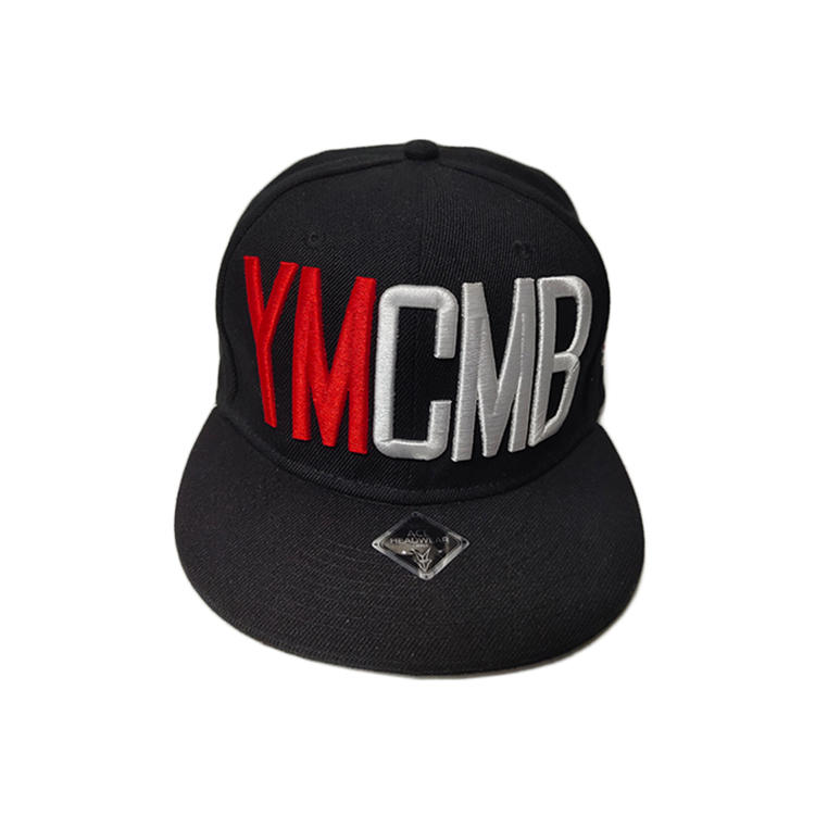 Ace Unisex Custom 3d/flat Embroidery Logo Soft Cotton Fabric Outdoor Snapback Cap Flat Brim Hat