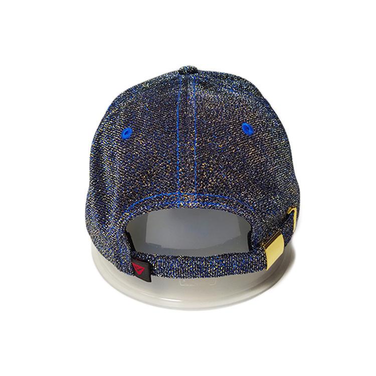Ace Unisex Custom Fabric 3d/flat Metal Silver Embroidery Thread Logo Cap Outdoor Baseball Cap Curve Brim Hat